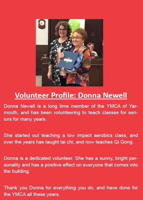 volunteer profile donna