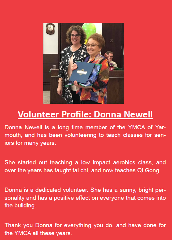 volunteer profile donna