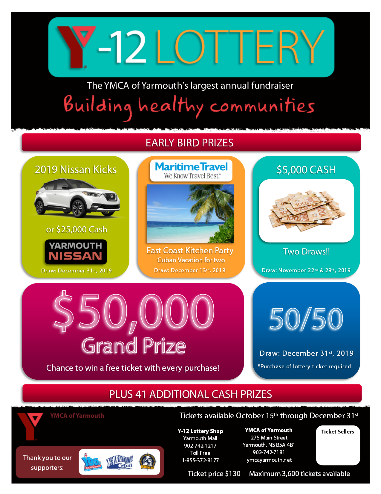 Y-12 Lottery Promotional Poster - Letter 2019